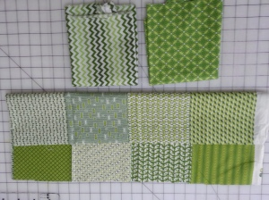 The top 2 fabrics substituted for the bottom fabric.